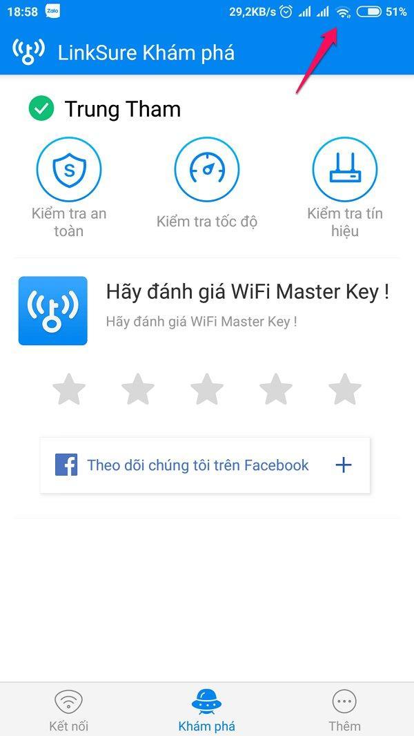 Cách lấy mật khẩu WiFi hàng xóm bằng ứng dụng WiFi Master Key Android