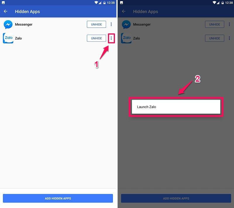 Cách ẩn ứng dụng trên Android bằng Apex Launcher