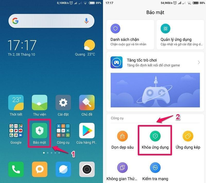 Cách ẩn ứng dụng trên Android máy Xiaomi