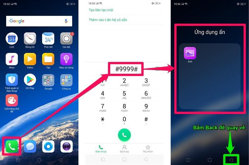 Cách ẩn ứng dụng trên Android máy Oppo