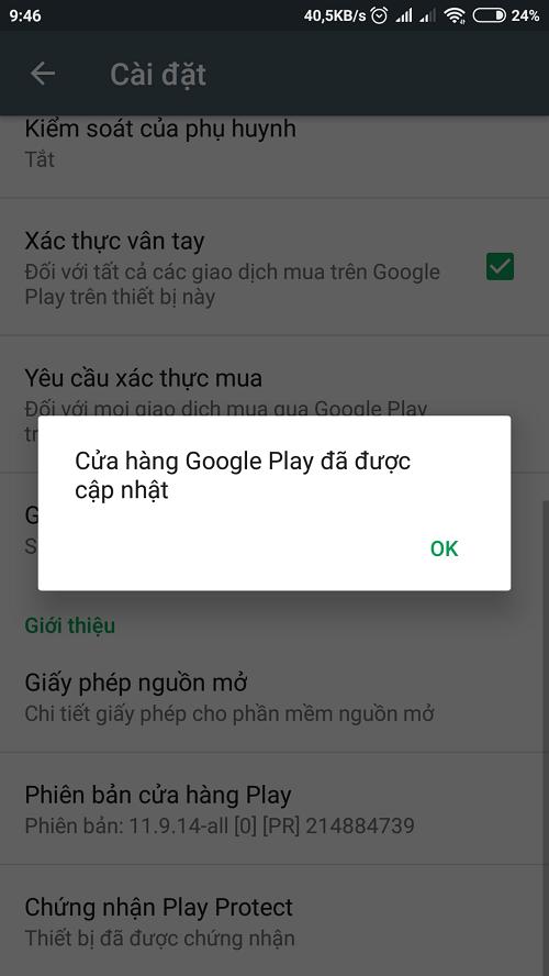 Cách cập nhật CH Play nhanh nhất