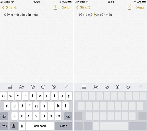 Mẹo bàn phím cho iPhone - Dùng tính năng 3D Touch di chuyển con trỏ