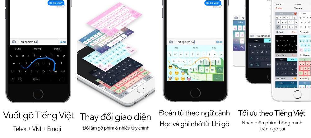 Ứng dụng bàn phím cho iPhone Vkey