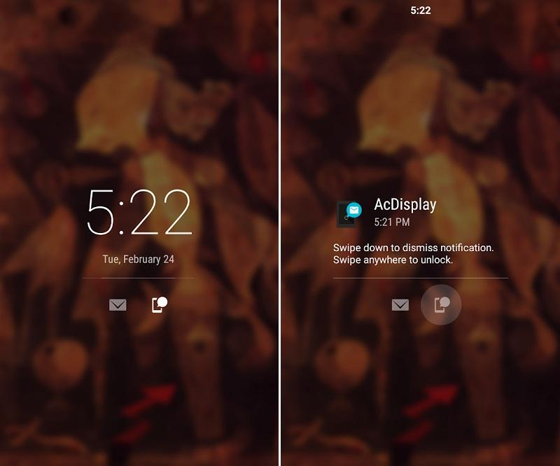 Ứng dụng khóa màn hình cho Android ACDisplay