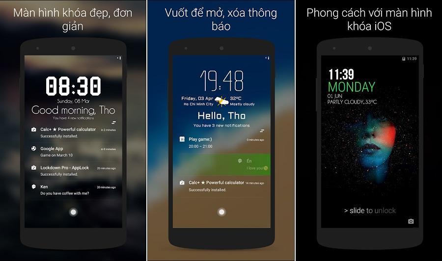 Ứng dụng khóa màn hình cho Android Hi Locker