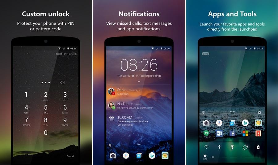 Ứng dụng khóa màn hình cho Android Next Lock Screen