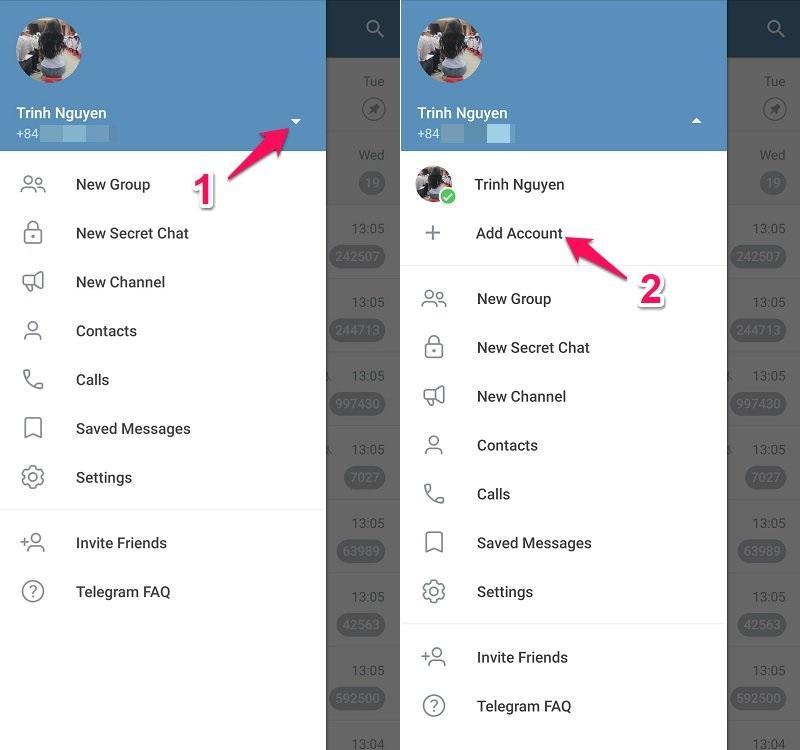 Cách sử dụng nhiều tài khoản Telegram trên một thiết bị
