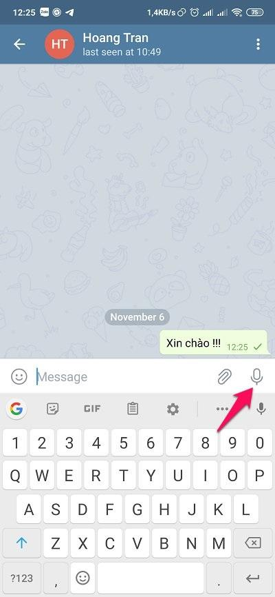 Cách sử dụng Telegram - Gửi file ghi âm