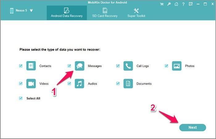 Cách khôi phục tin nhắn đã xóa trên điện thoại Android bằng MobiKin Doctor
