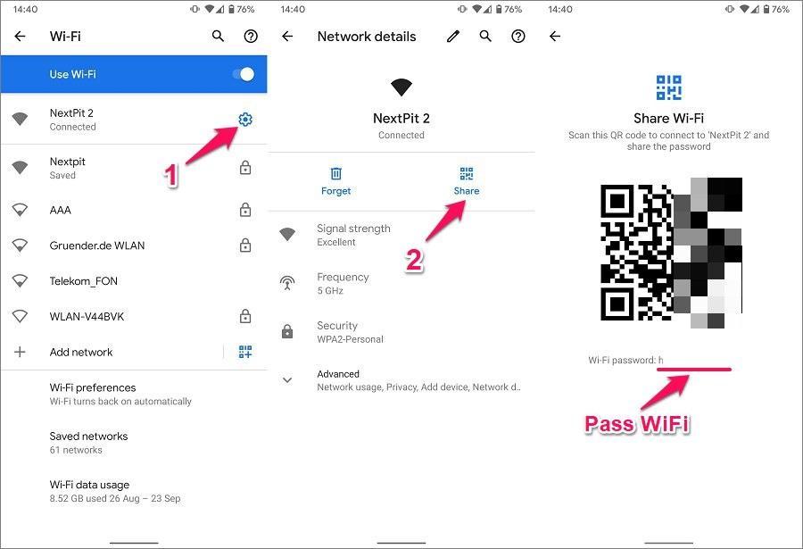 Cách xem pass WiFi đã lưu trên Android 10 thuần