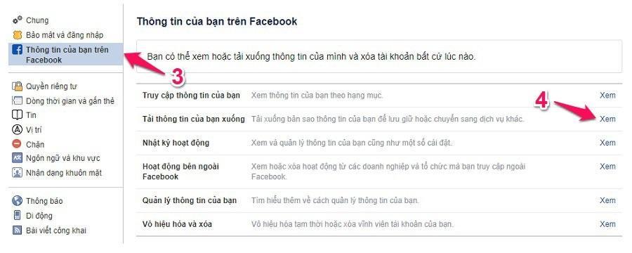 Tải xuống bản sao lưu tin nhắn Facebook Messenger bằng máy tính