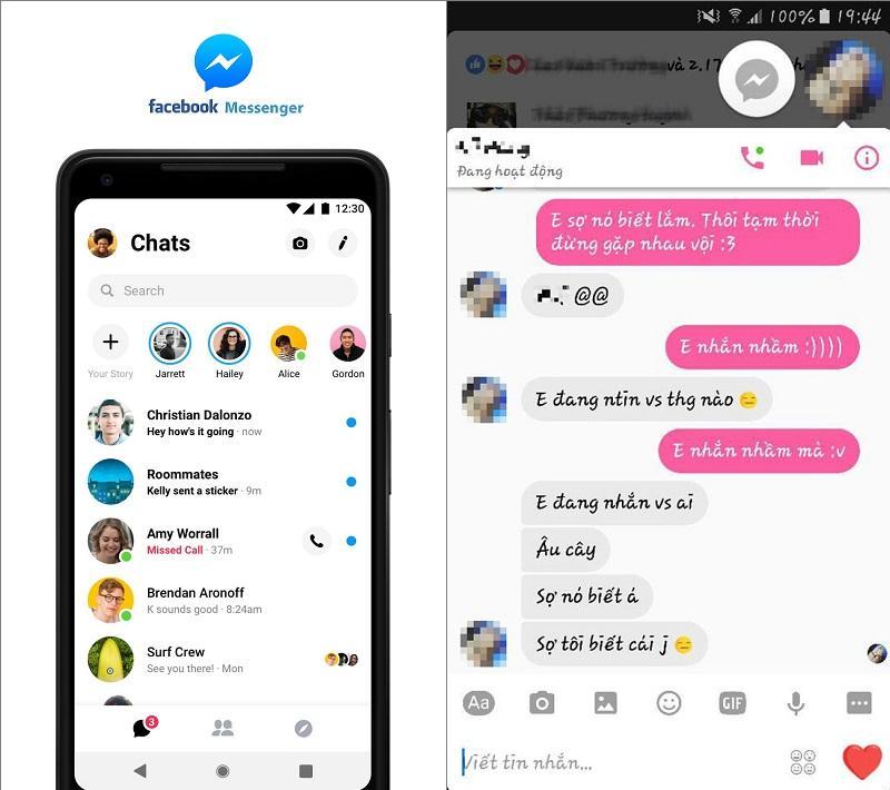 Tin nhắn và cuộc trò chuyện Facebook Messenger