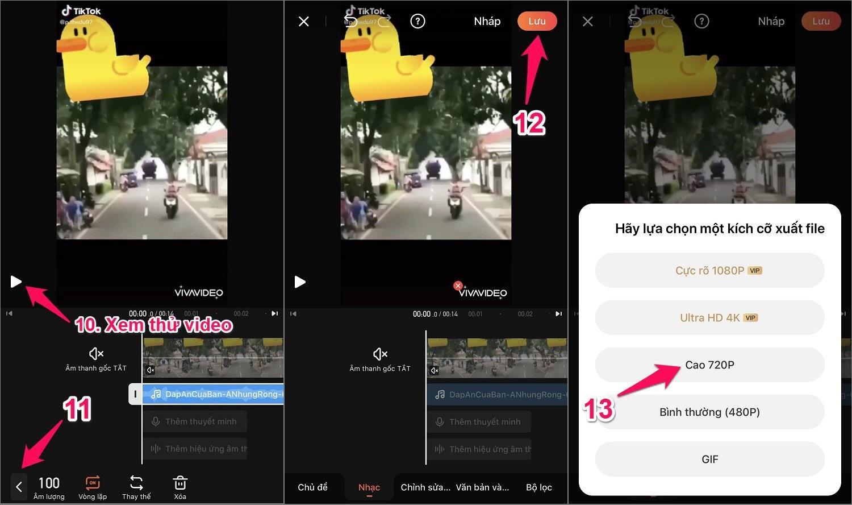 Cách chèn nhạc vào video trên iPhone bằng app Vivavideo