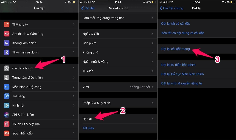 Cách sửa iPhone báo không có dịch vụ