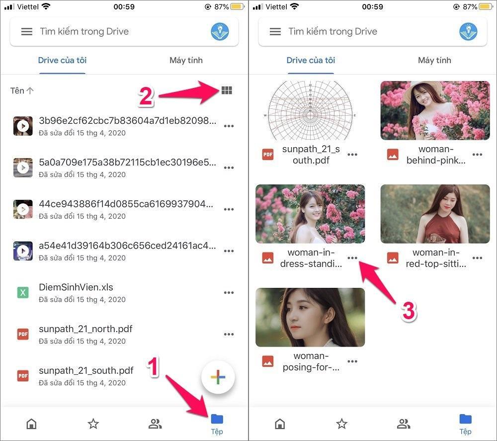 Cách tải ảnh và video từ Google Drive về iPhone
