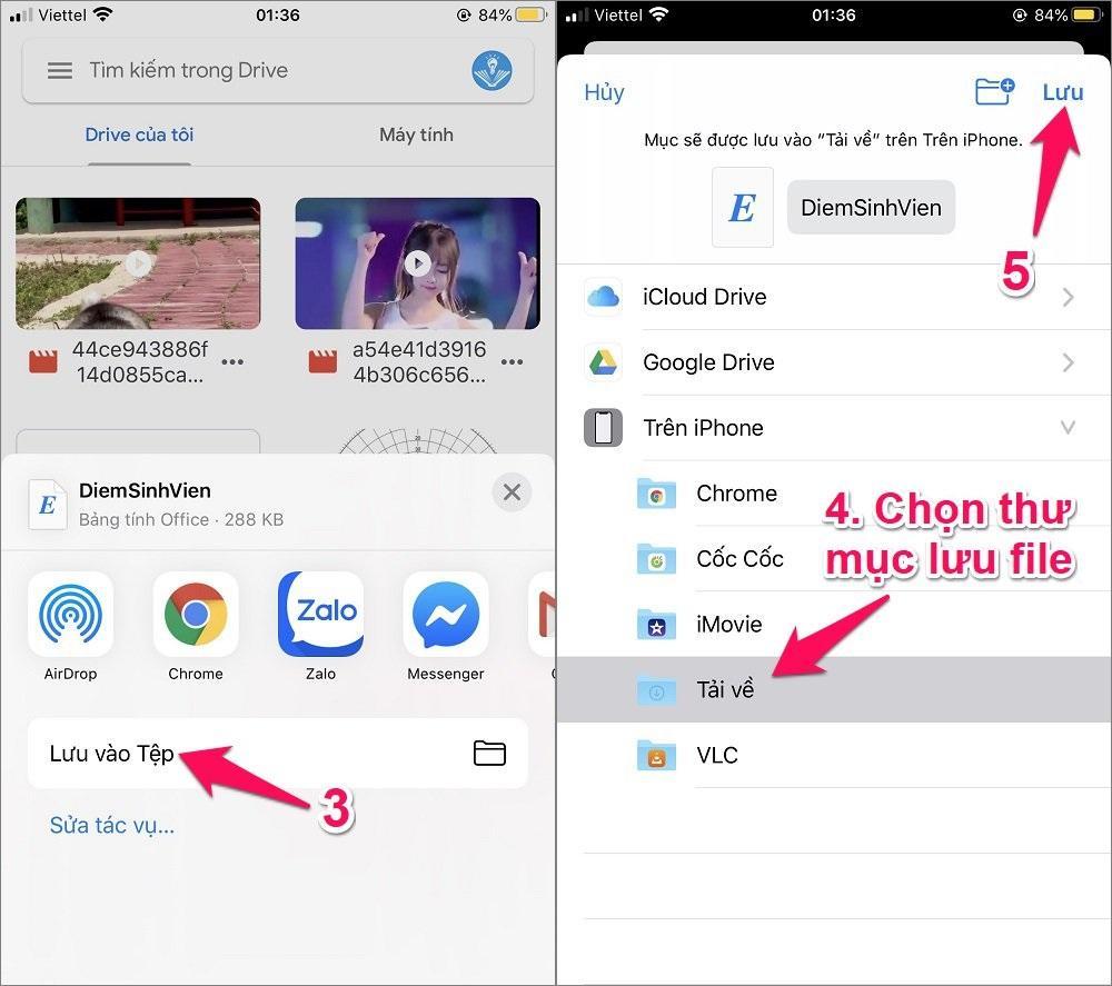 Cách tải file tài liệu từ Google Drive về iPhone