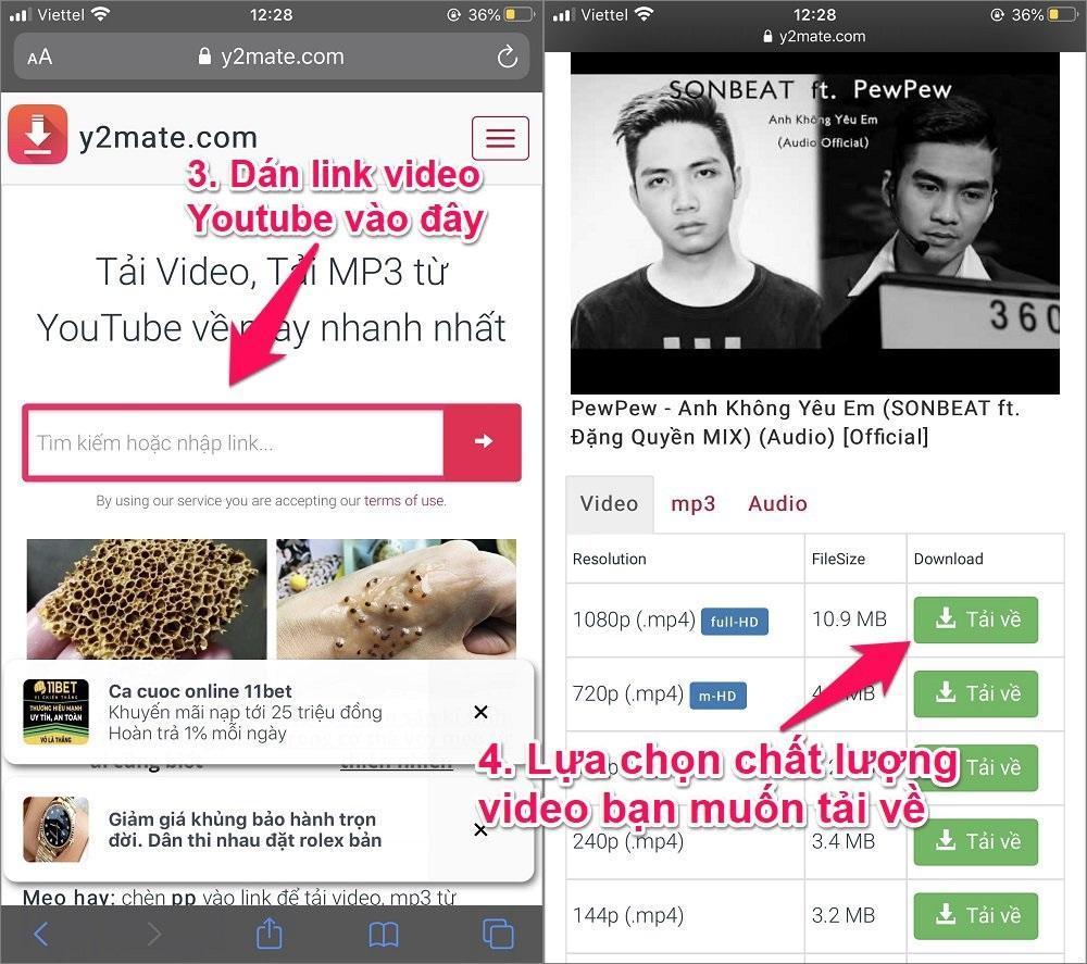 Cách tải trực tiếp video trên Youtube về điện thoại iPhone