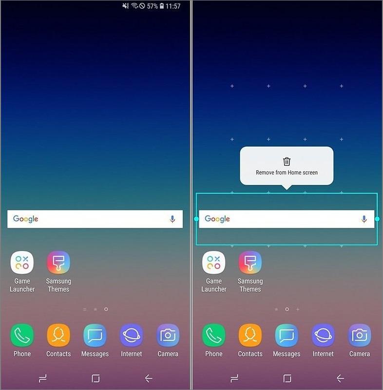 Cách xóa thanh tìm kiếm Google trên Android