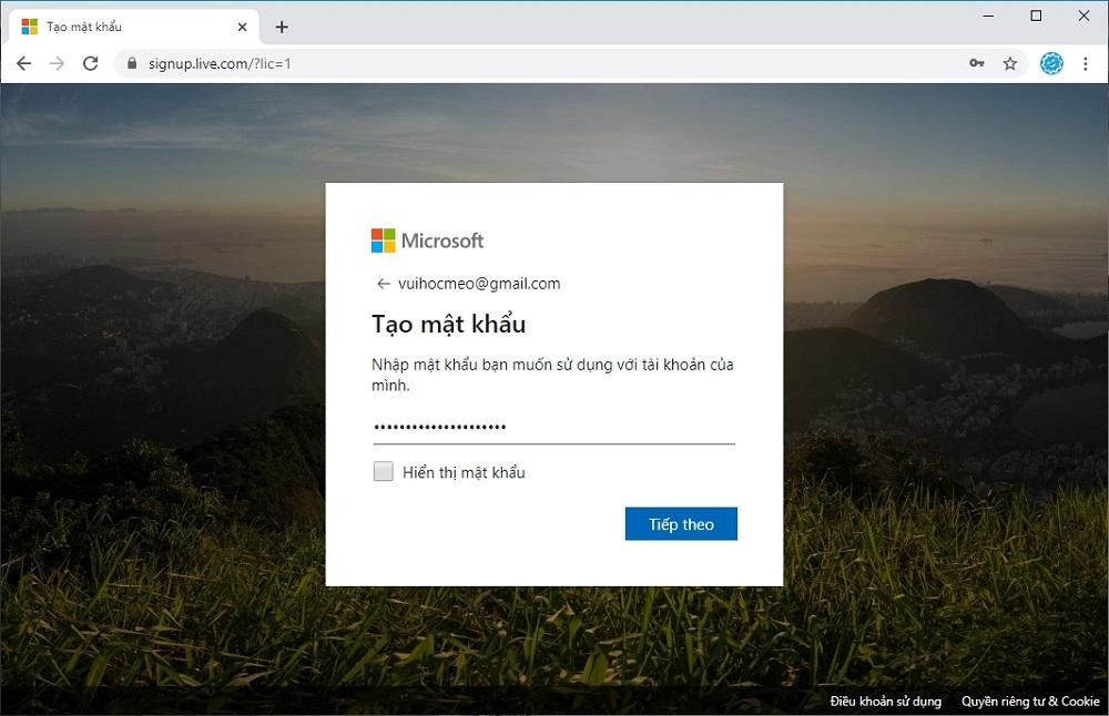 Đăng ký tài khoản Microsoft OneDrive