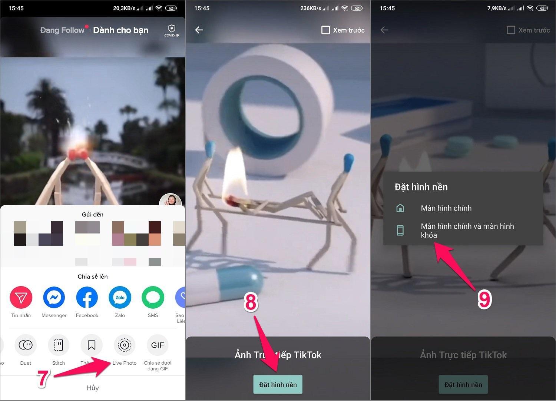 Cách lấy video Tik Tok làm hình nền cho Android