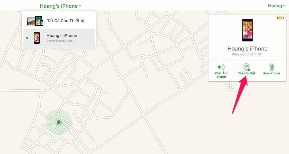 Cách tìm iPhone bị mất khi máy đã tắt nguồn bằng iCloud