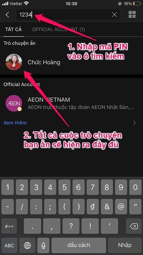 Hướng dẫn cách ẩn Tin nhắn Zalo trên iPhone