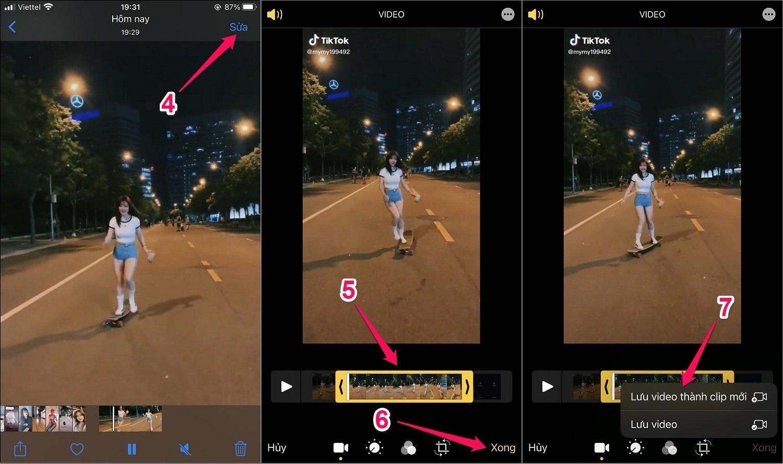 Cách cắt ghép video trên iPhone/iPad