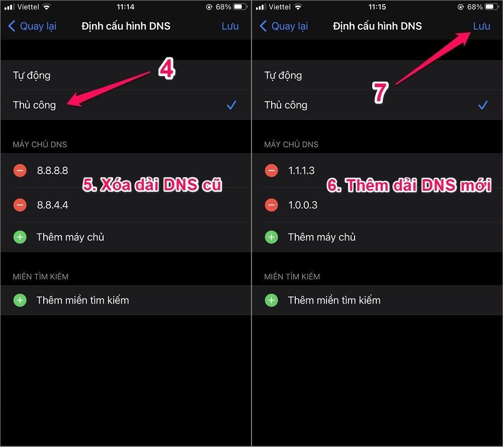 Cách chặn web đen trên điện thoại iPhone bằng DNS