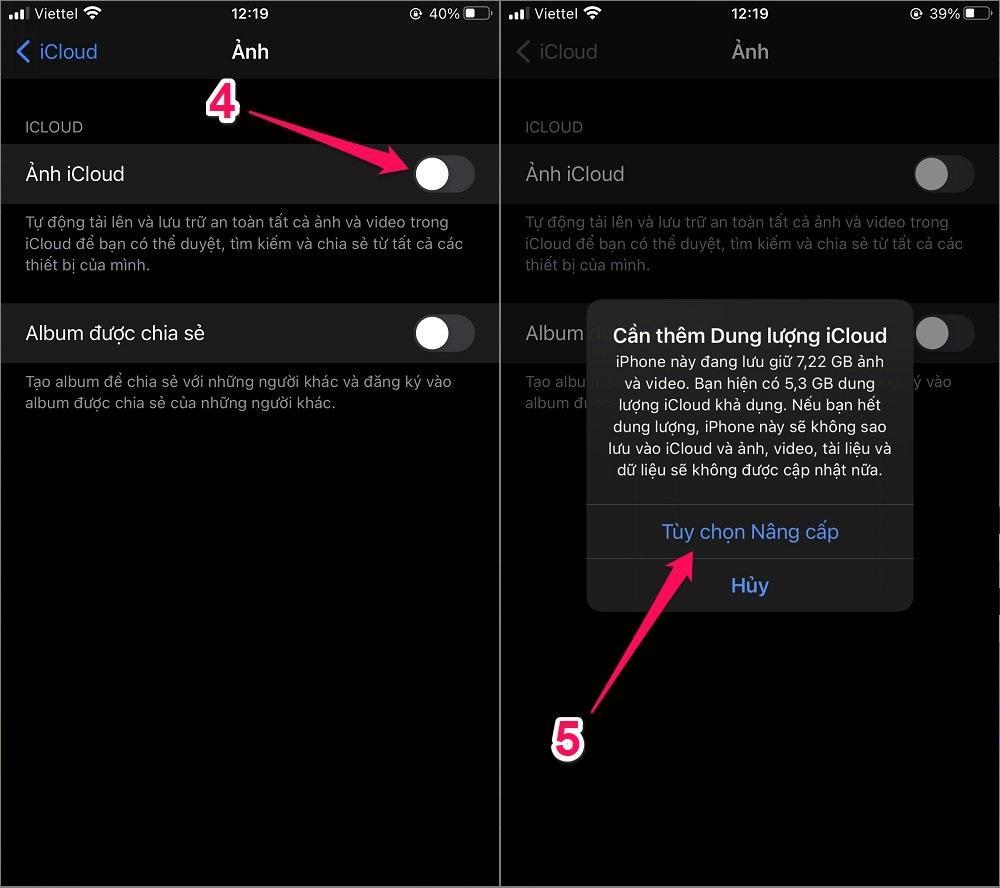 Cách chuyển Hình ảnh từ iPhone cũ sang iPhone mới