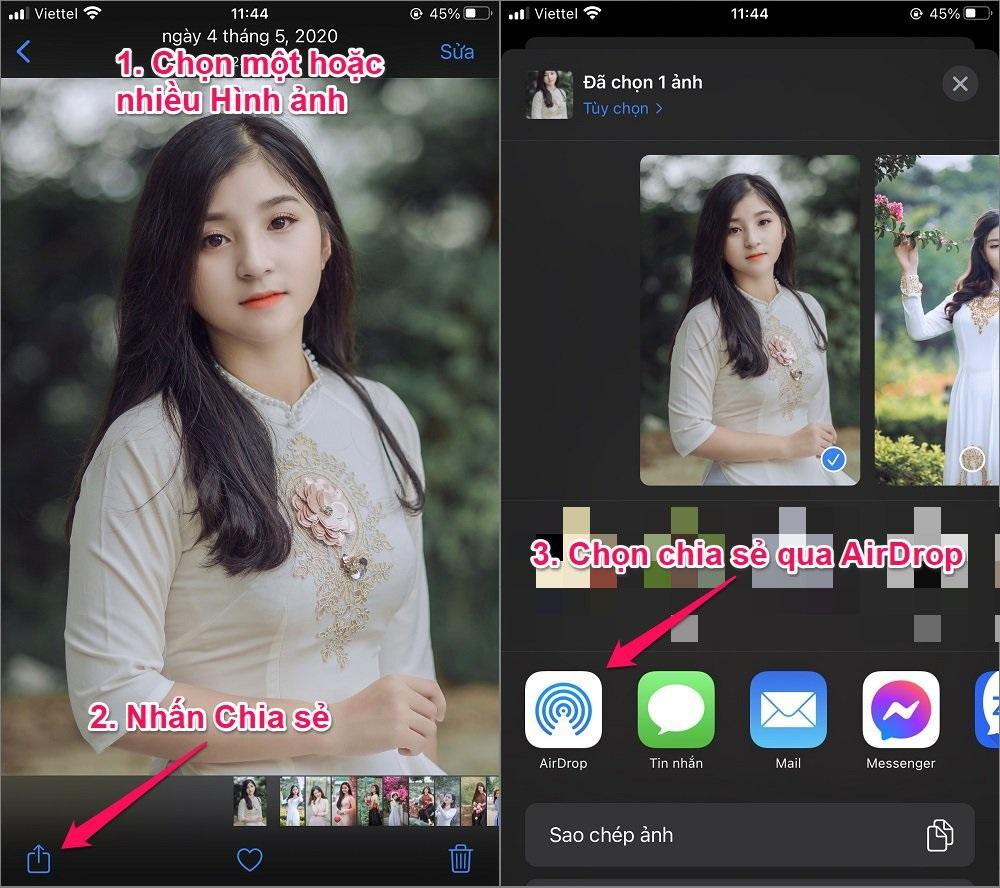 Cách chuyển Hình ảnh từ iPhone của bạn sang iPhone bằng AirDrop