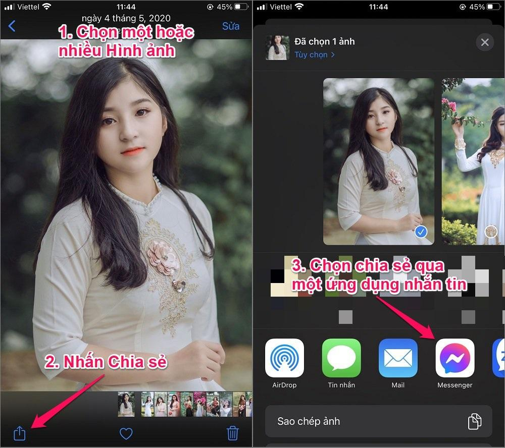 Cách chuyển Hình ảnh từ iPhone của bạn sang iPhone bằng Tin nhắn
