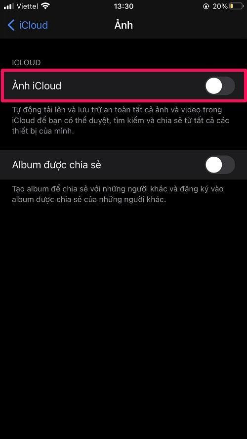Cách xóa ảnh trên iCloud