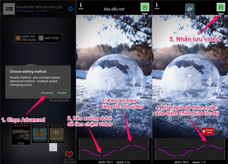 Chỉnh Slow Motion cho video trên Android