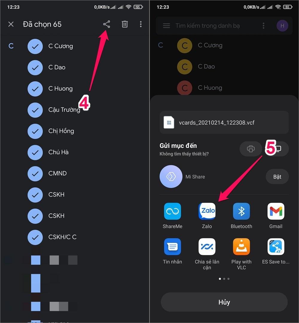 Cách chuyển danh bạ từ Android sang iPhone bằng tệp tin VCF