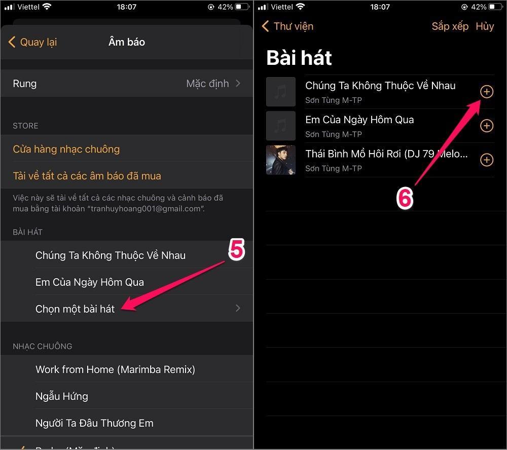 Cách đặt chuông Báo thức bằng bài hát cho iPhone