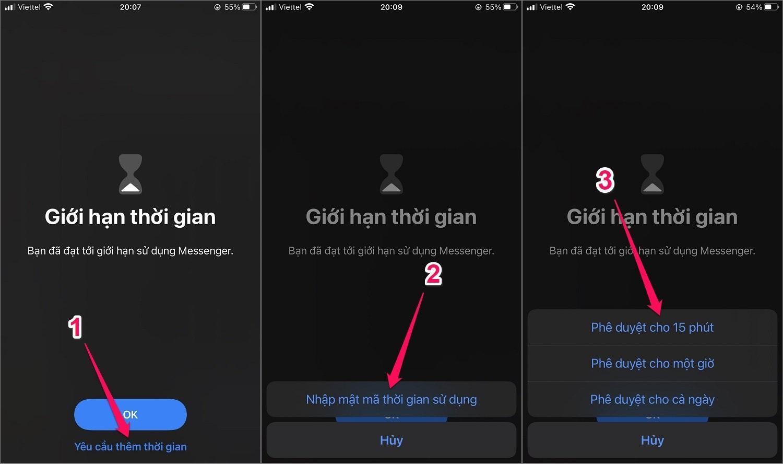 Hướng dẫn cách đặt mật khẩu cho ứng dụng trên iPhone bằng Thời gian sử dụng
