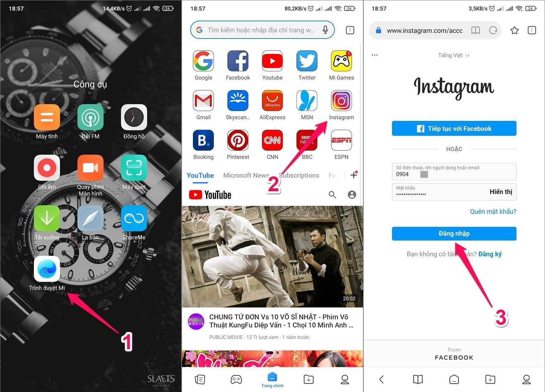 Hướng dẫn cách tải Ảnh, Video, Story từ Instagram về điện thoại Android bằng Trình duyệt