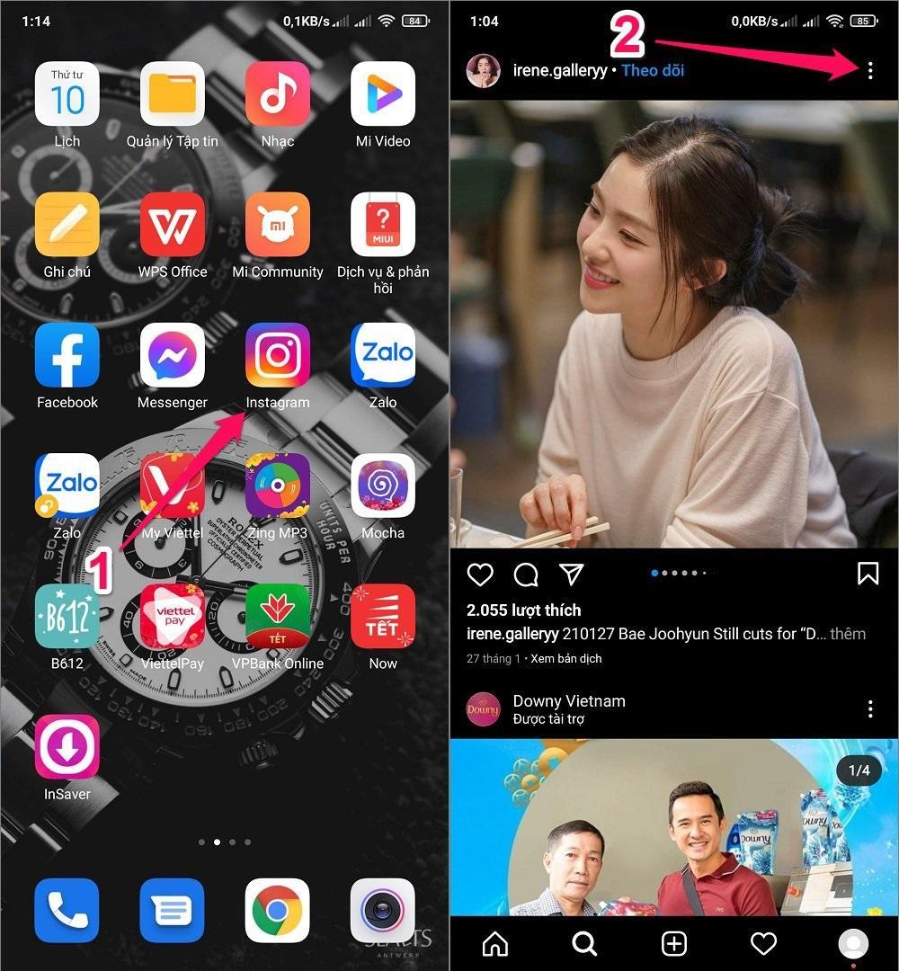 Hướng dẫn cách tải Ảnh, Video, Story từ Instagram về điện thoại Android bằng Ứng dụng
