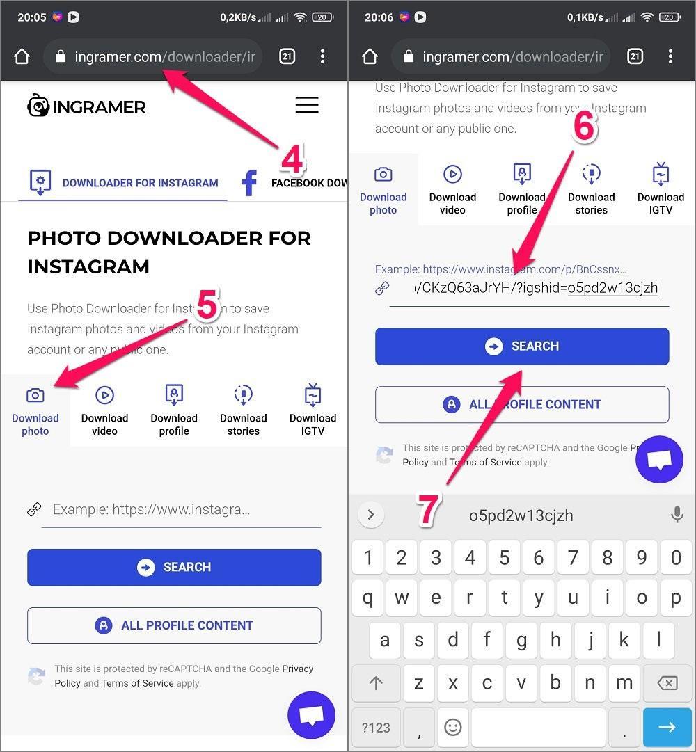Hướng dẫn cách tải Ảnh, Video, Story từ Instagram về điện thoại Android bằng Webstie