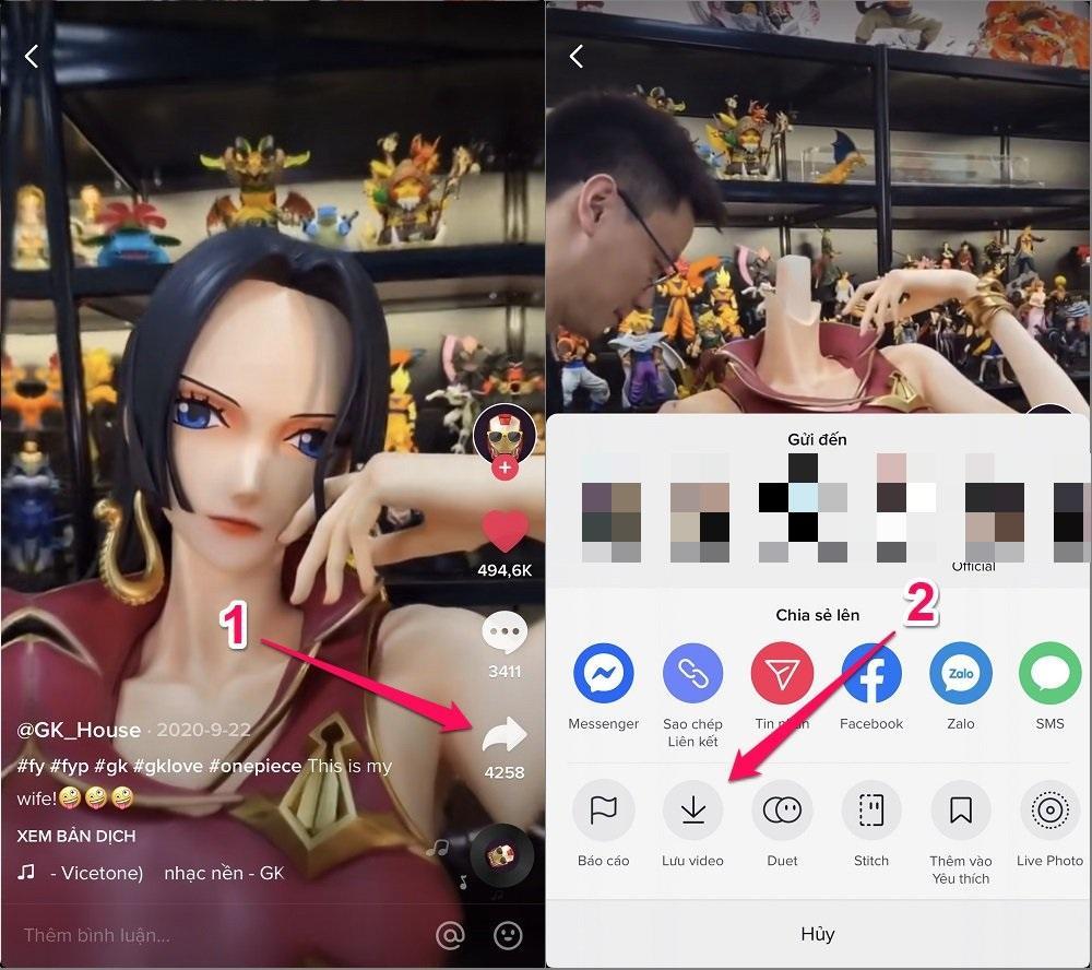 Hướng dẫn cách tải trực tiếp video TikTok (Có bị gắn Logo) trên iPhone/Android