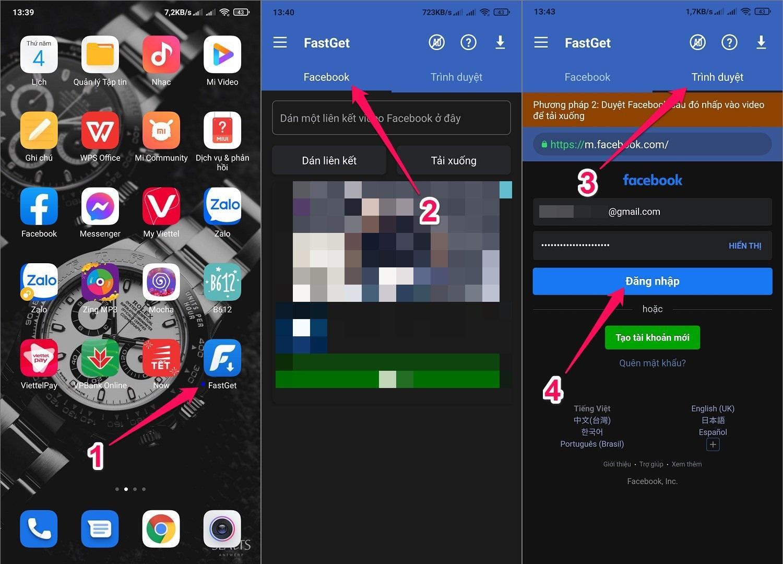 Cách tải video Facebook riêng tư về điện thoại Android