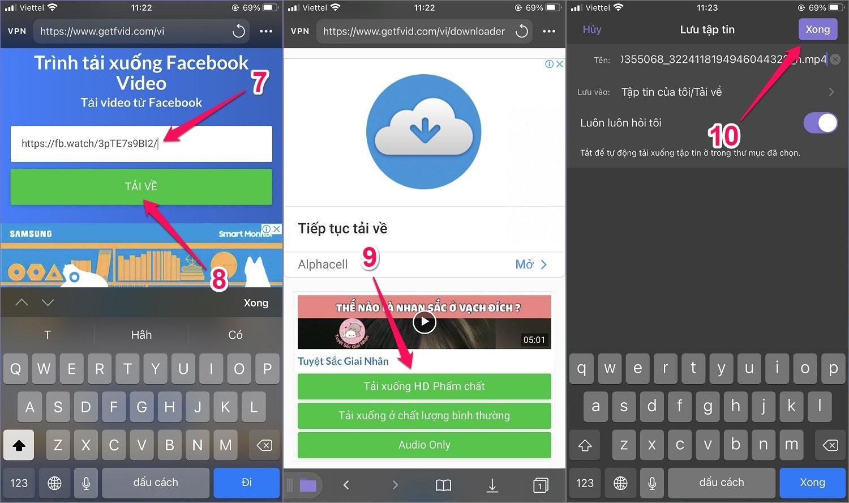 Cách tải video trên Facebook về iPhone bằng ứng dụng