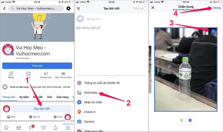 Hướng dẫn cách tạo ảnh 3D Facebook trên iPhone