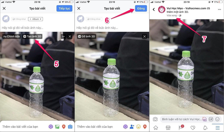 Hướng dẫn cách tạo ảnh 3D Facebook trên iPhone/Android