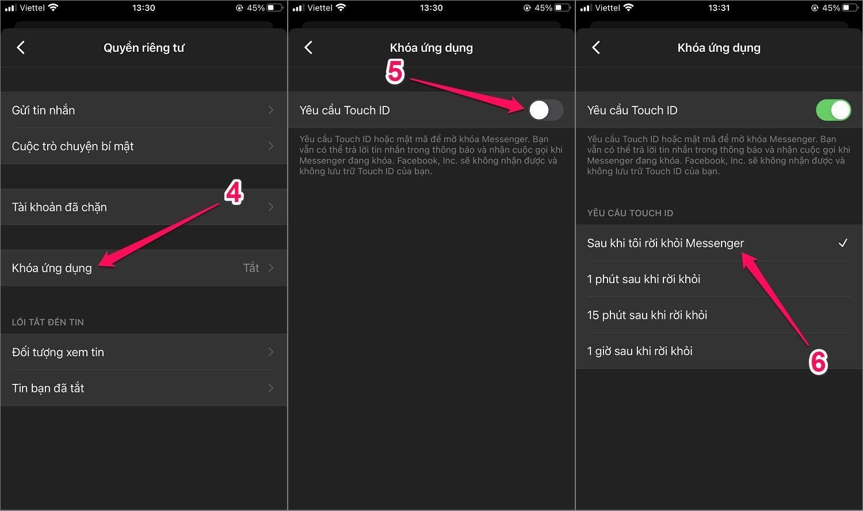 Hướng dẫn cách cài đặt mật khẩu Messenger cho iPhone