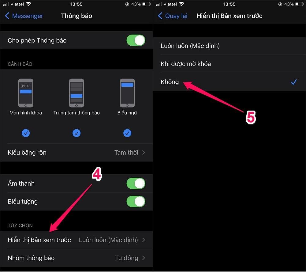Hướng dẫn cách cài đặt thông báo Messenger cho iPhone