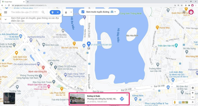 Hướng dẫn cách ghim vị trí trên Google Maps bằng máy tính