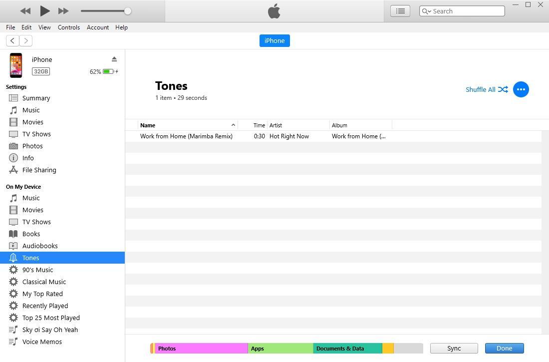 Hướng dẫn cài nhạc chuông cho iPhone bằng iTunes