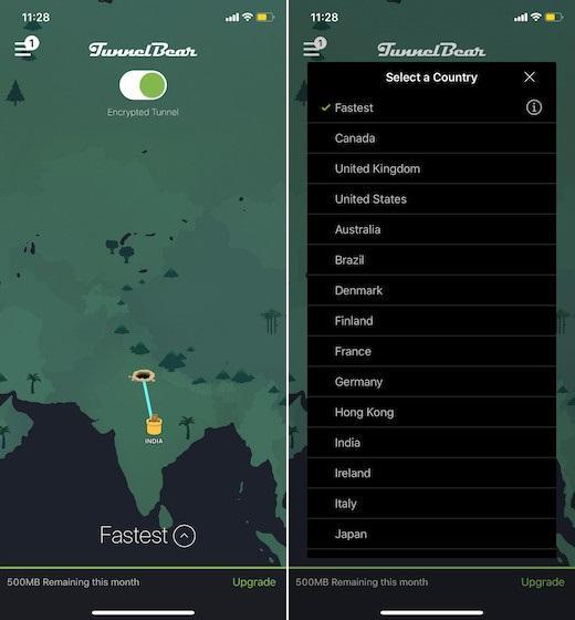 Ứng dụng VPN miễn phí cho iOS - TunnelBear