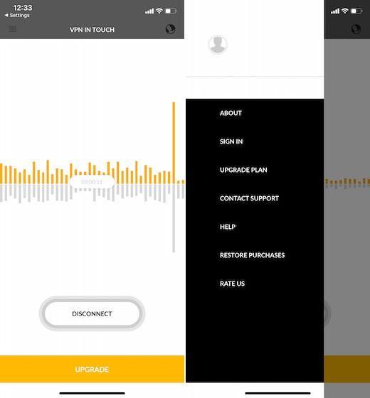 Ứng dụng VPN miễn phí cho iOS - VPN in Touch